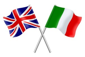 Flags: United Kingdom and Italy