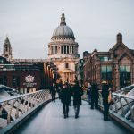 Uno scorcio della città di Londra vista da un ponte